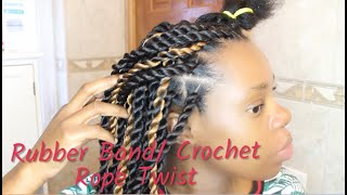 Senegalese| Rubber band |Crochet Rope Twist Method|  NICKABELL BEAUTY