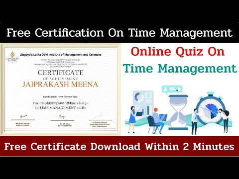 Free Quiz Certificate || Time Management Course - YouTube