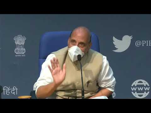 Press Conference by Defence Minister Shri Rajnath Singh