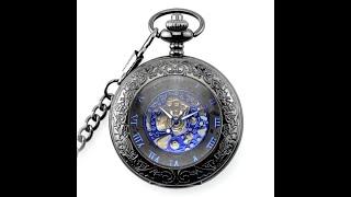 Видео обзор карманных механических часов Winner Dark Edition