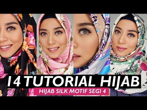 Video 14 TUTORIAL HIJAB LEBARAN SIMPEL CEPAT DAN KEKINIAN | HIJAB SEGI 4 SILK SATIN MOTIF