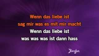 Karaoke Wenn das Liebe ist - Glashaus *