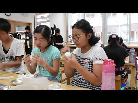 有田小学校で風鈴の絵付け(2019年6月14日)