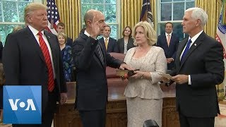 President Trump Swears in New Labor Secretary Eugene Scalia