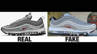 How To Spot Fake Nike Air Max 97 Sneakers / Trainers Authentic vs Replica Comparison