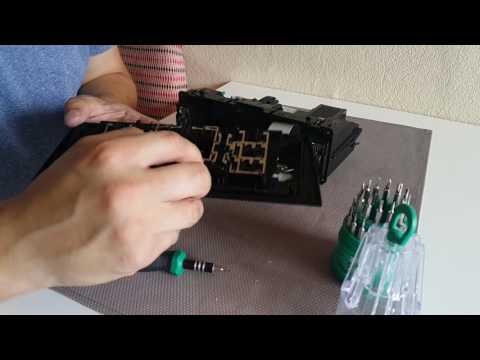 Чистим кнопки климат контроля в AUDI A4 B5