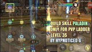 SKILL BUILD + SET SKILL PALADIN DRAGON NEST MOBILE ANDROID