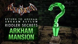 Batman: Return to Arkham Asylum - Riddler's Challenge - Arkham Mansion (All Collectibles)