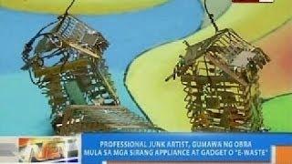 Professional junk artist, gumawa ng obra mula sa mga sirang appliance at gadgets o 'e-waste'