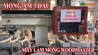 Mộng Âm CNC 3 Đầu WM-1500-3CNC | Máy Làm Mộng Woodmaster Giá Tốt