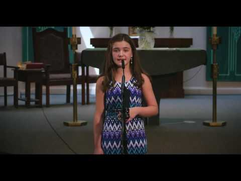 "10 Year old voice student Lindsay Simonsen sings, ""If this is my last night with you."""