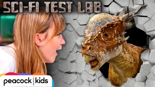Robotic Dinosaur Stiggy CRUSHES Cement Wall | SCI-FI TEST LAB presented by Jurassic World