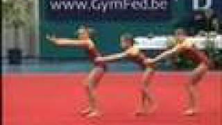 preview picture of video 'Acro D balans Nikki Robine en Sophie Eeklo 26-01-2008'