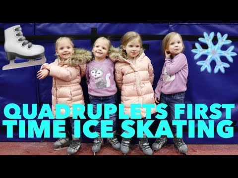 QUADRUPLETS FIRST TIME ICE SKATING-WHO LOVED IT AND WHO DIDN'T?