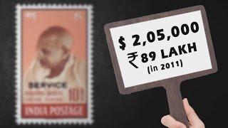 Mahatma Gandhi's most expensive postage stamp | Mintage World's Hidden Treasures