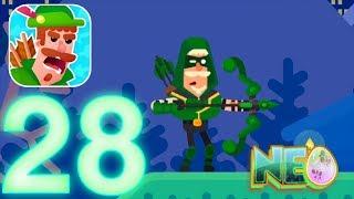 Bowmasters: Gameplay Walkthrough Part 28 - Robin Upgrade! (iOS, Android)