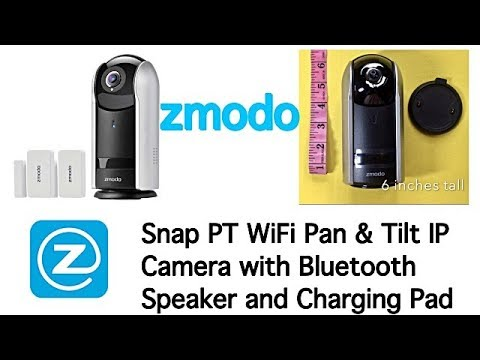 Zmodo Snap Wire-Free or Plugged-In 360 Pan/Tilt/Zoom 1080p Security Camera  and Smart Hub with 2-Pack Door/Window Sensors