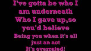 Ashley Tisdale Overrated with lyrics