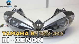 Yamaha R6 2003-2005 Bi-xenon projector Mini H1 6.0 installation