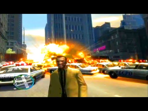 GTA 4 Largest Explosion Ever & Most Cars Ever