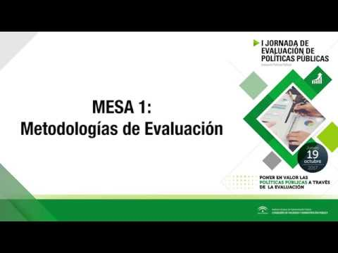 I Jornada de Evaluación de Políticas Públicas - Mesa 1:  METODOLOGÍAS DE EVALUACIÓN