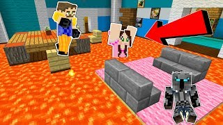 Minecraft: THE NEIGHBOR'S FLOOR IS LAVA!!! - Mini-Game