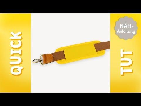 Quick Tut – Gurtpolster nähen (mit Freebook)