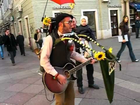 An amazing one-man-band street performer in Rijeka, Croatia called Cigo Man Band.