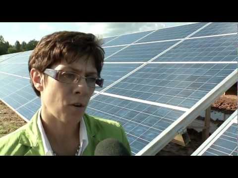 Einweihung Solarpark St  Wendel