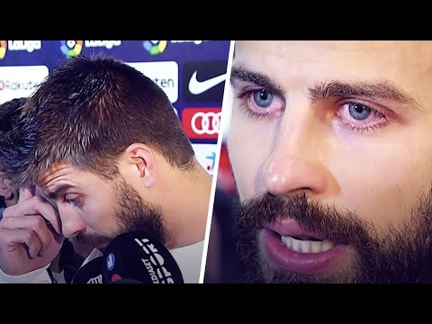 Why did Gerard Piqué burst into tears in the mixed zone? | Oh My Goal