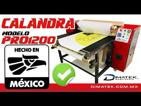 Calandra Para Sublimación 1.20m Ancho Modelo HDE PRO1200 Dimatek.com.mx