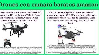 Los 10 mejores Drones con camara en amazon - drones con camara mas baratos en amazon!