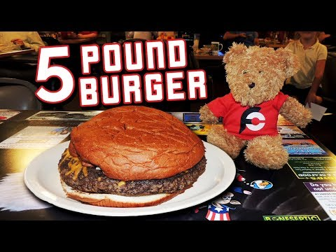 Giant Sarge Burger Challenge In Little Rock, Arkansas!!