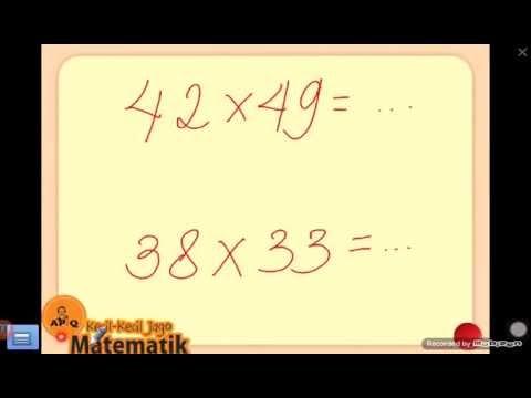 Video Trik Perkalian Cepat Mudah Matematika SD SMP SMA