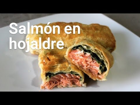 Cómo hacer salmón en hojaldre. Receta Navidad