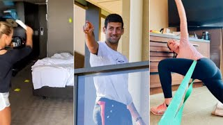 video: Watch how Australian Open tennis players are spending their time in quarantine