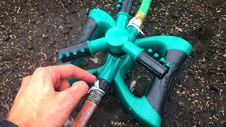 """★☆☆☆☆ 😡HORRIBLE Lawn Sprinkler 360 - """"Three Arm"""" Cybbo Lawn, Automatic 360 Garden Water"""
