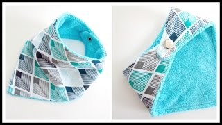 {Step-by-Step} Easy Bandana Baby Bib 3m-36m