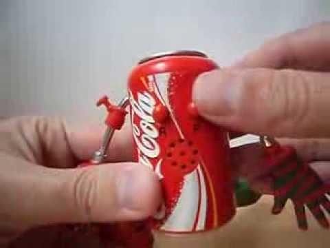 Lata Coca Cola Navideña con Grabador de Sonido