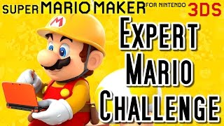 Super Mario Maker 3DS 100 Mario Challenge - ALL COURSES (Expert Mode)