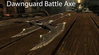 Dawnguard Battle Axe Skyrim Special Edition Mod Showcase by Xenocraft1212