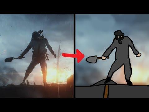 Battlefield 1 trailer but it's drawn in MS Paint