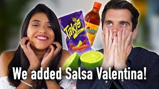 TRYING MEXICAN SNACKS! - With Salsa Valentina!!