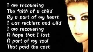 Celine Dion    Recovering    (  Lyrics )
