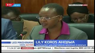 KNH CEO Lilly Koros appears before the Parliamentary health committee