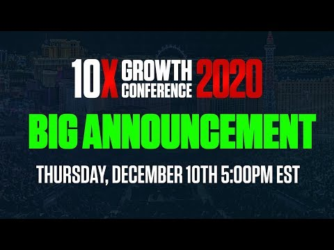 10X Growth Conference Special Announcement
