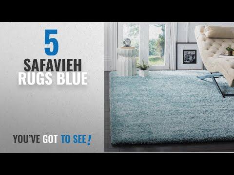 Top 10 Safavieh Rugs Blue [2018]: Safavieh Milan Shag Collection SG180-6060 Aqua Blue Area Rug (3'