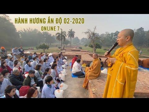 Đoàn hành hương ĐPNN chiêm bái Hương thất của đức Phật (Gandha Kuti) còn gọi là Chùa Phật
