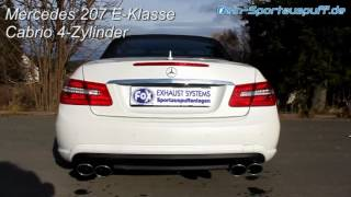 Video: MERCEDES-BENZ E-Klasse W207 Cabriolet 4-Zylinder