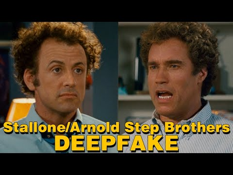 Sylvester Stallone and Arnold Schwarzenegger as Step Brothers Deepfake